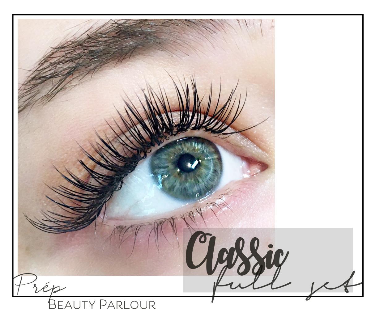 Best Classic Full Set Eyelash Extensions Vancouver  Prép Beauty Parlour