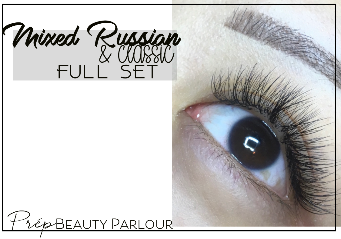 Best Mixed Russian and Classic Full Set Eyelash Extensions Vancouver  Prép Beauty Parlour