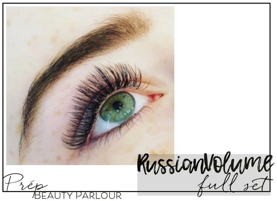 Best Russian Volume Full Set Eyelash Extensions Vancouver  Prép Beauty Parlour