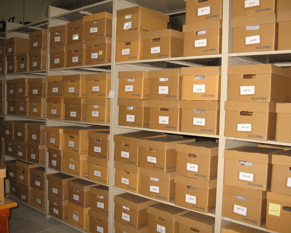 Artifact storage room