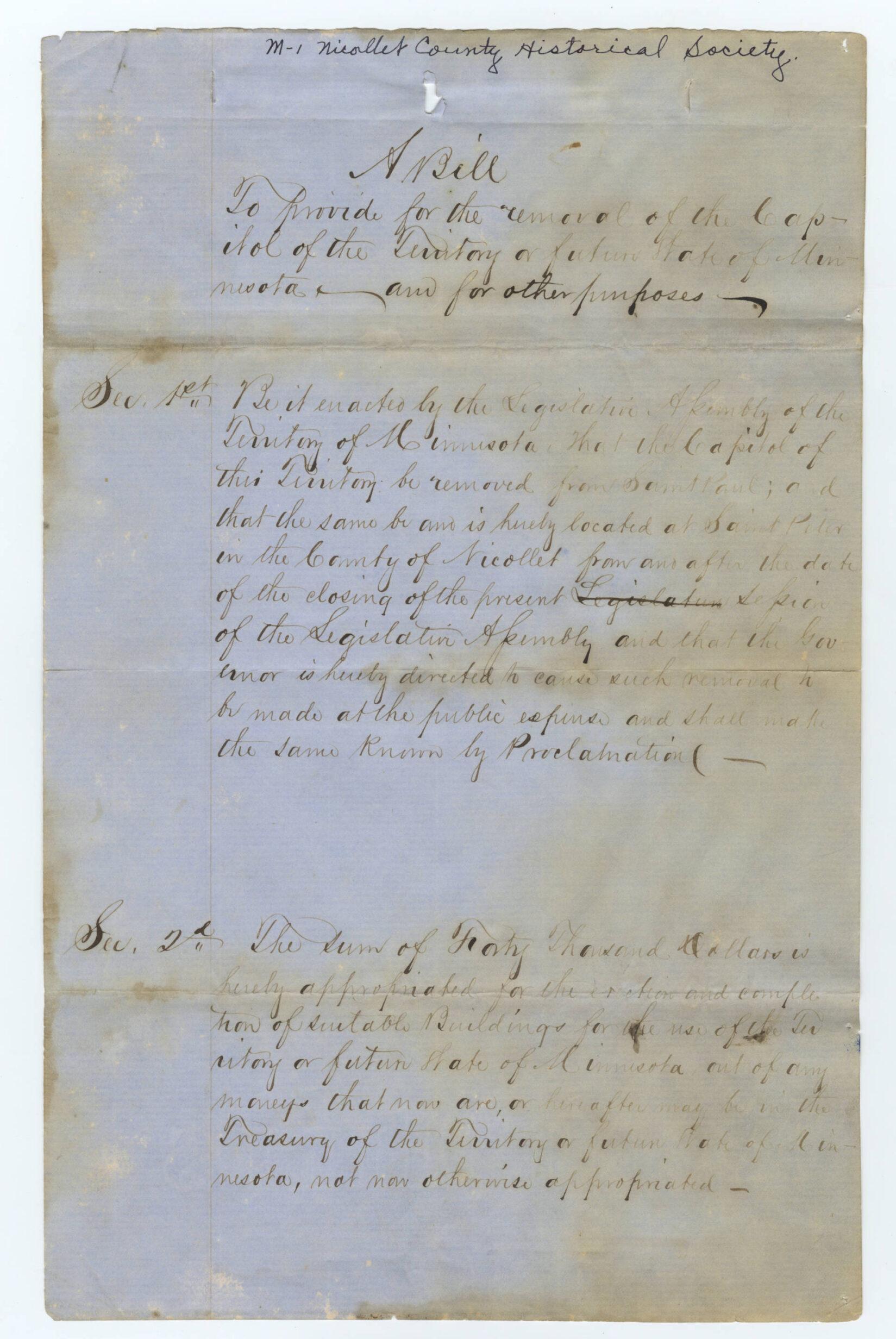 Bill pg 1