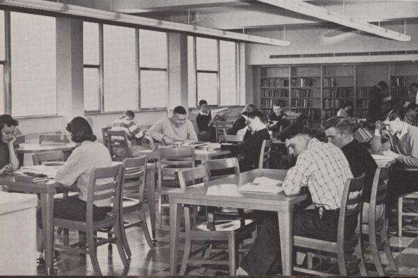 Saint Peter High School Library 1958