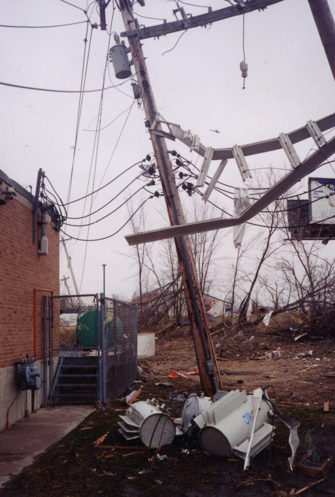 Damaged electrical equipment at North Lift station