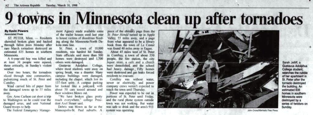 Arizona Republic Tue 31 Mar 1998