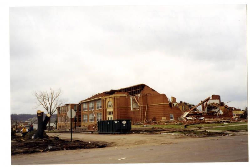 Community Center tornado damage