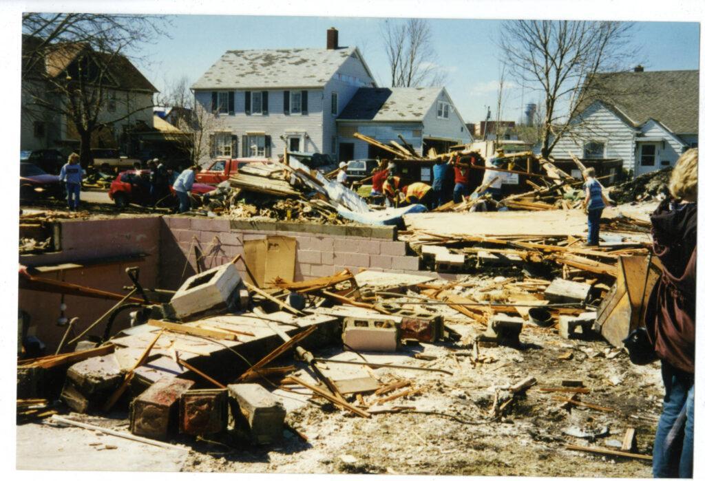 North Fourth Street tornado damage