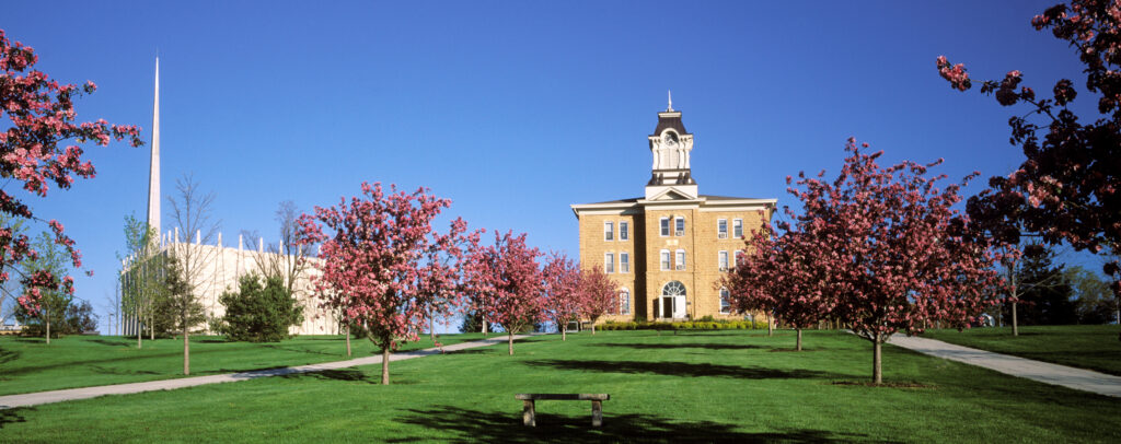 Old Main and Christ Chapel at Gustavus