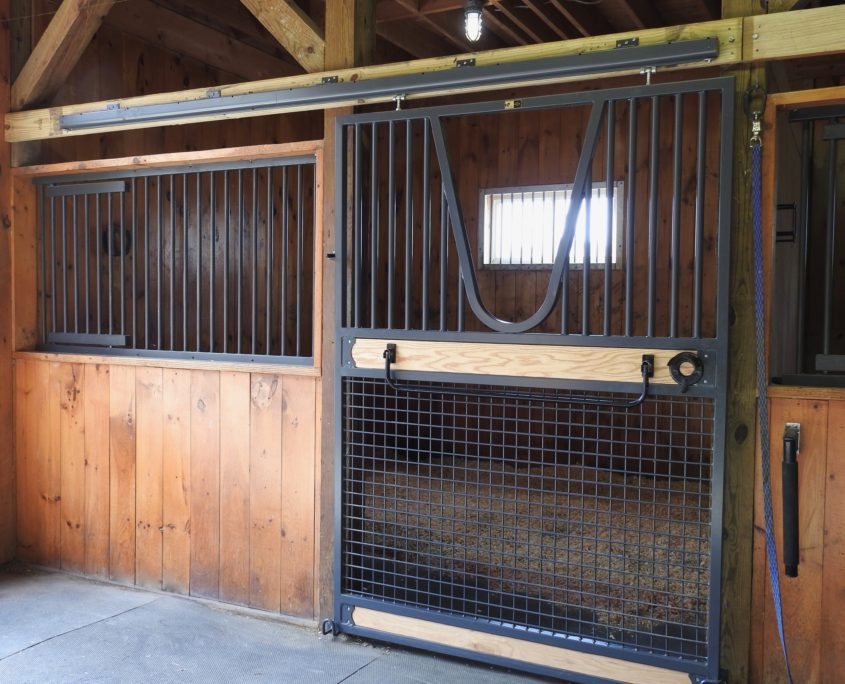 photo of barn stalls at Trinity Equestrian Center