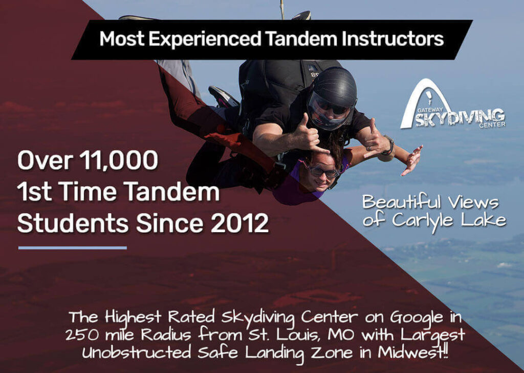 most experienced tandem instructors - Skydiving in St. Louis