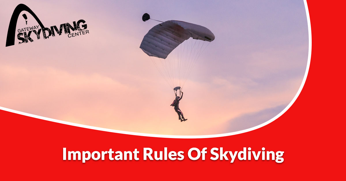You are currently viewing Important rules for skydiving