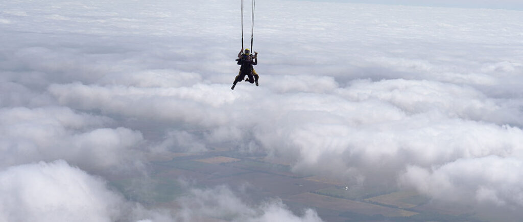 Skydiving Over Carlyle Lake