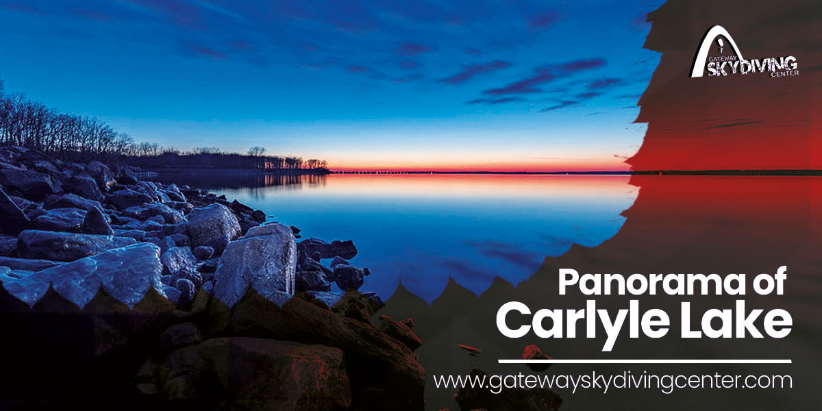 Panorama of Carlyle Lake