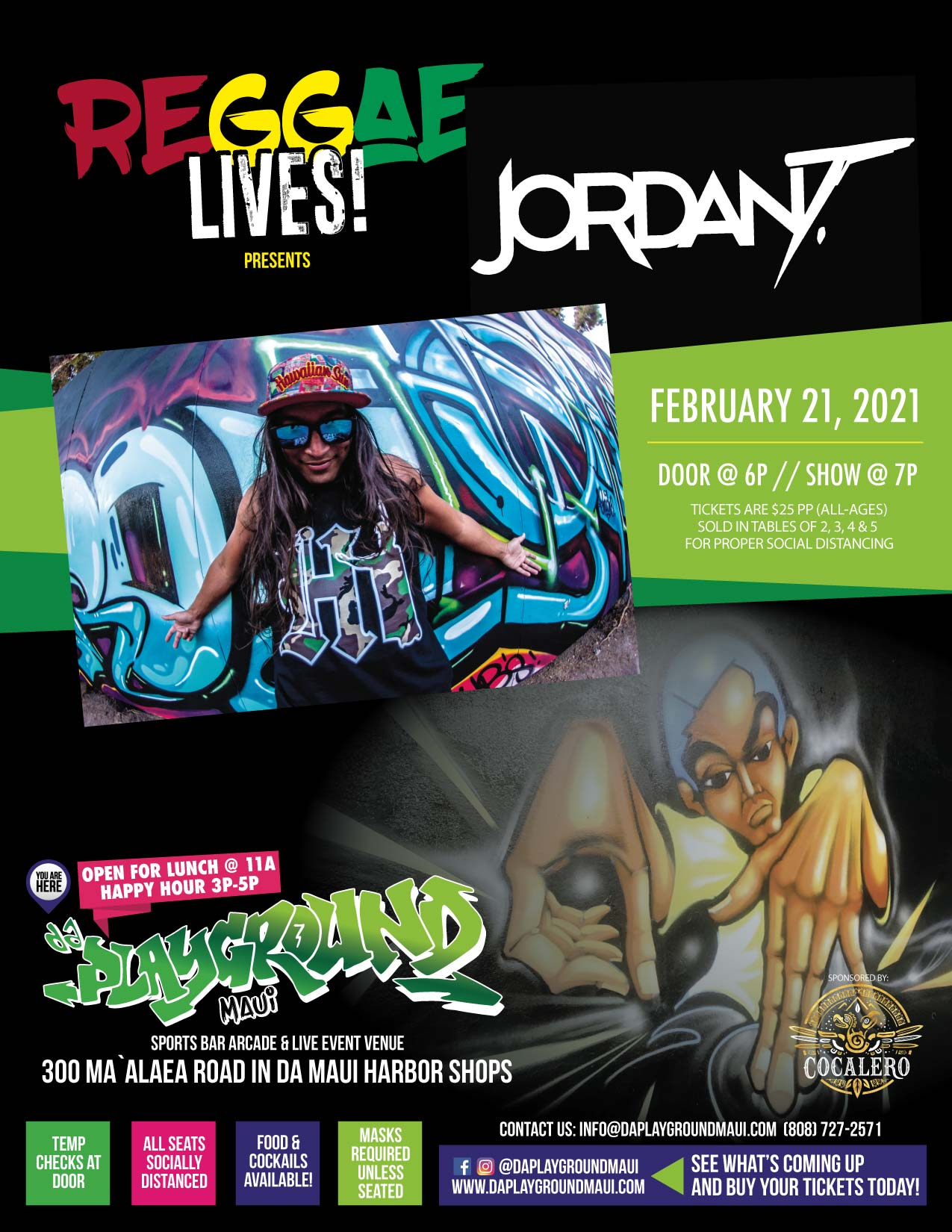 Reggae Lives! presents special performance by Jordan T!