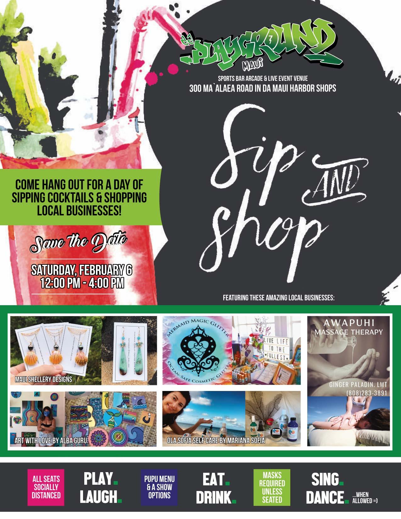 Sip n Shop at da playground maui
