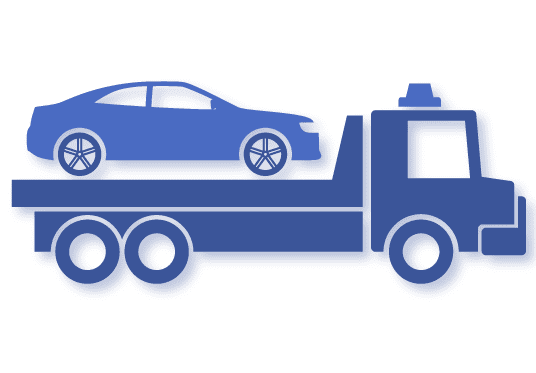 vehicle being repossessed