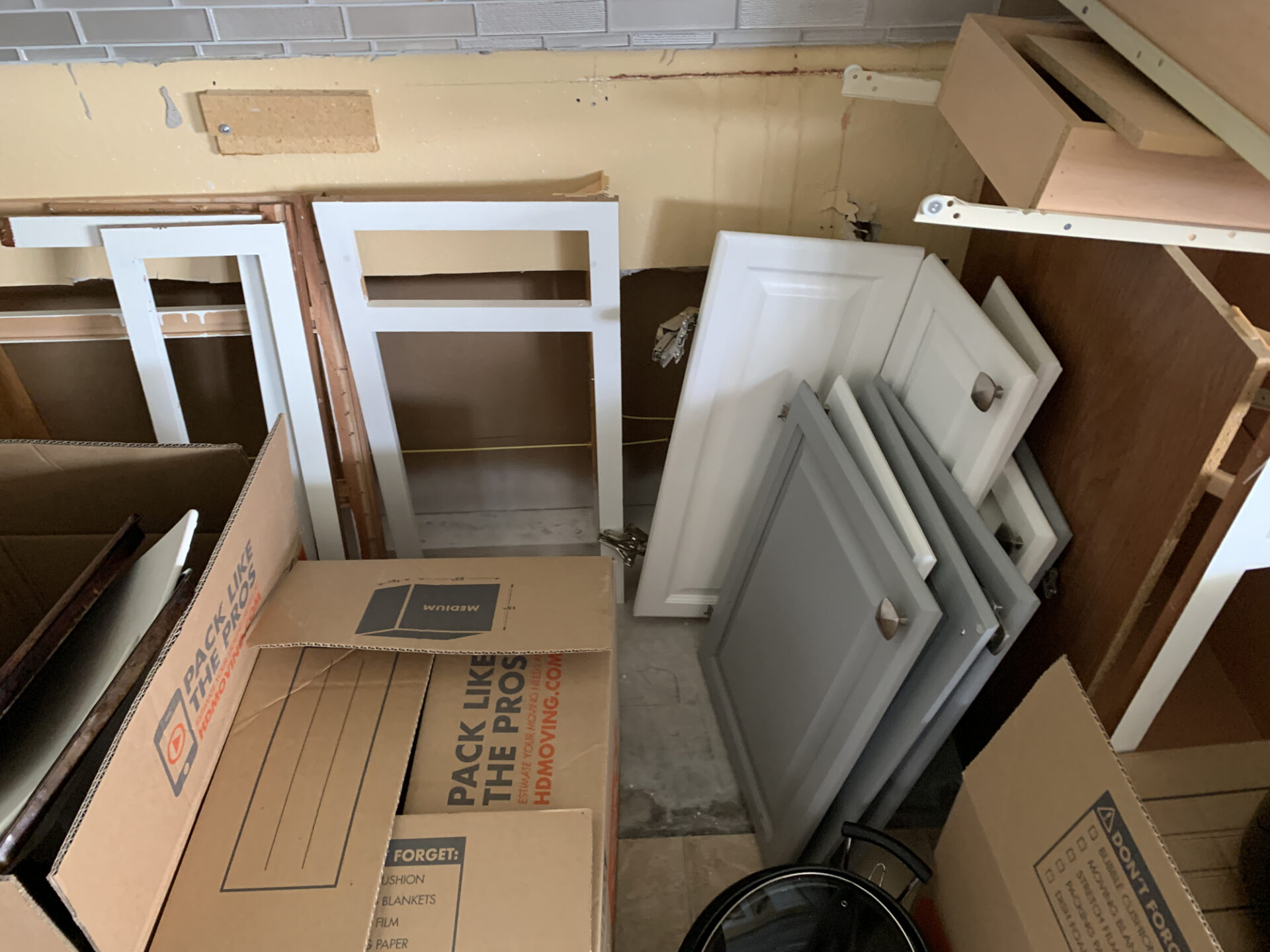 Cabinet boxes before