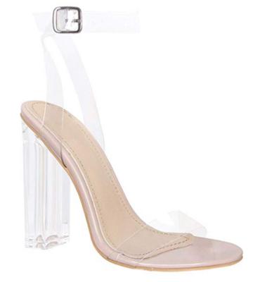 Klaur melbourne clear strap heels