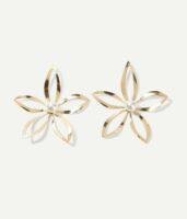 floral metal stud earrings