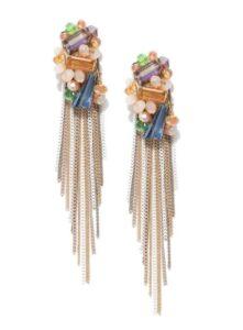 multicolored tasselled earrings