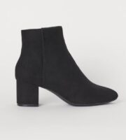 hm black ankle booties