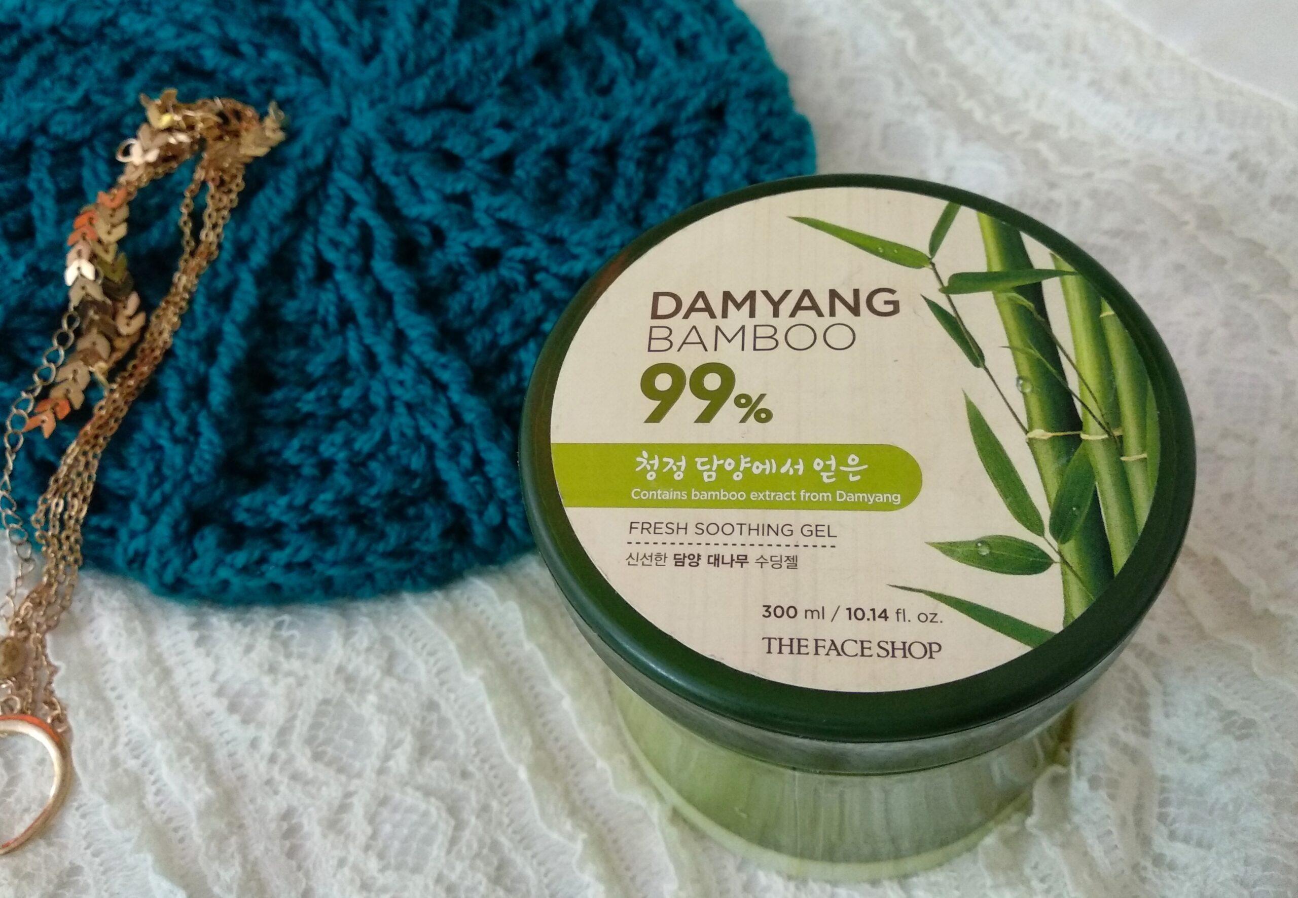The face shop Damyang bamboo gel review