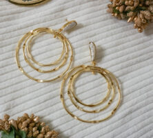 iwishh golden layered hoops