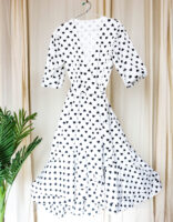 iwishh heart print wrap dress