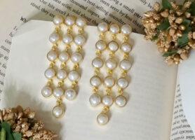 iwishh pearl embellished earrings