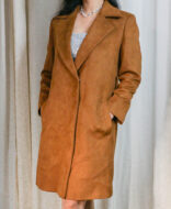 iwishh brown suede trench
