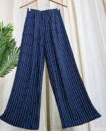 iwishh navy striped flared pants