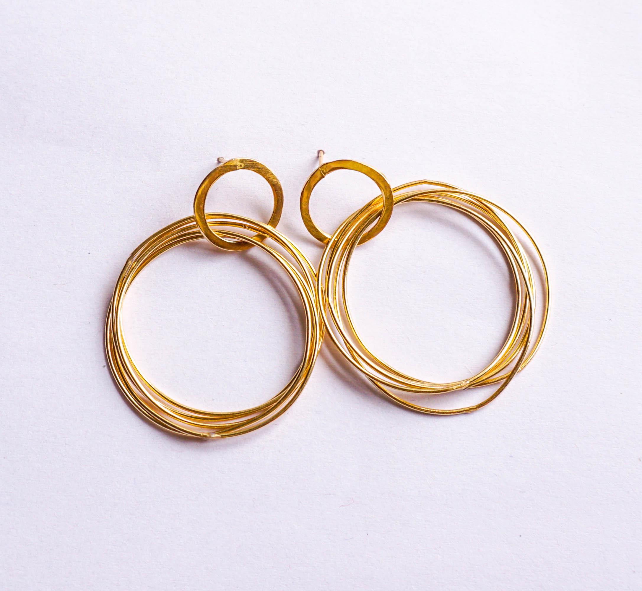 iwishh multi hoops earrings