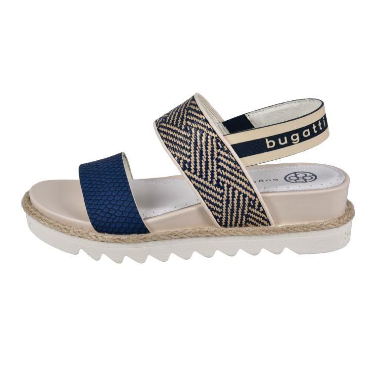 Dark blue or beige Flatforms - bugatti muse - 431-67586-5869-4152_002