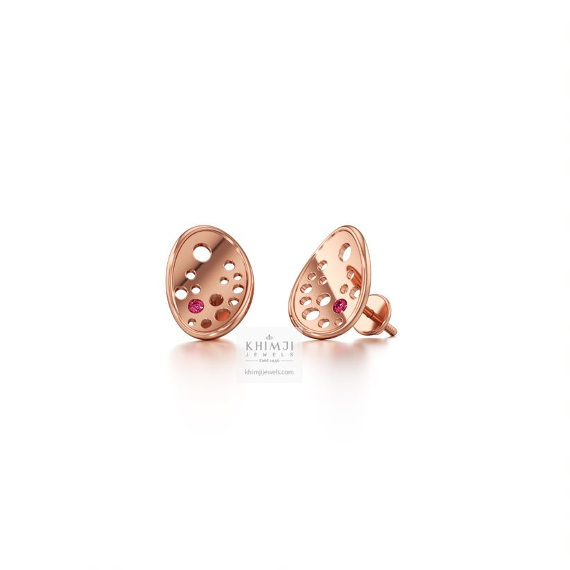 Ovate Stud Earrings