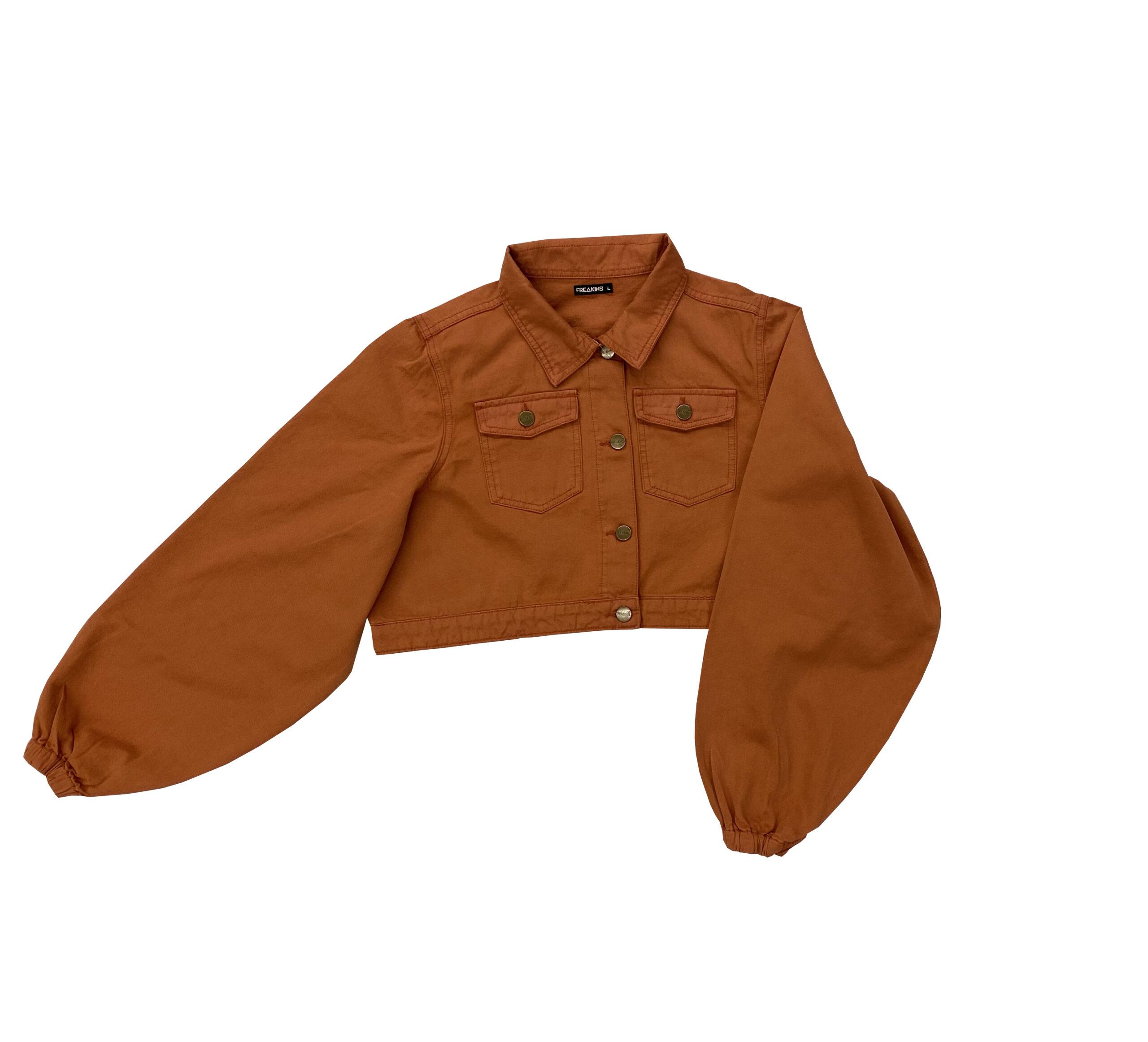 Puff sleeves rust jacket - Freakins