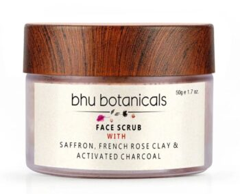 Face Scrub (with Saffron, French Rose Clay & Activated Charcoal