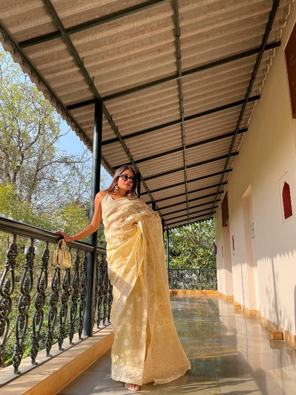 Arushi Tripathi Normalize the saree with Queen of sarees Kankatala