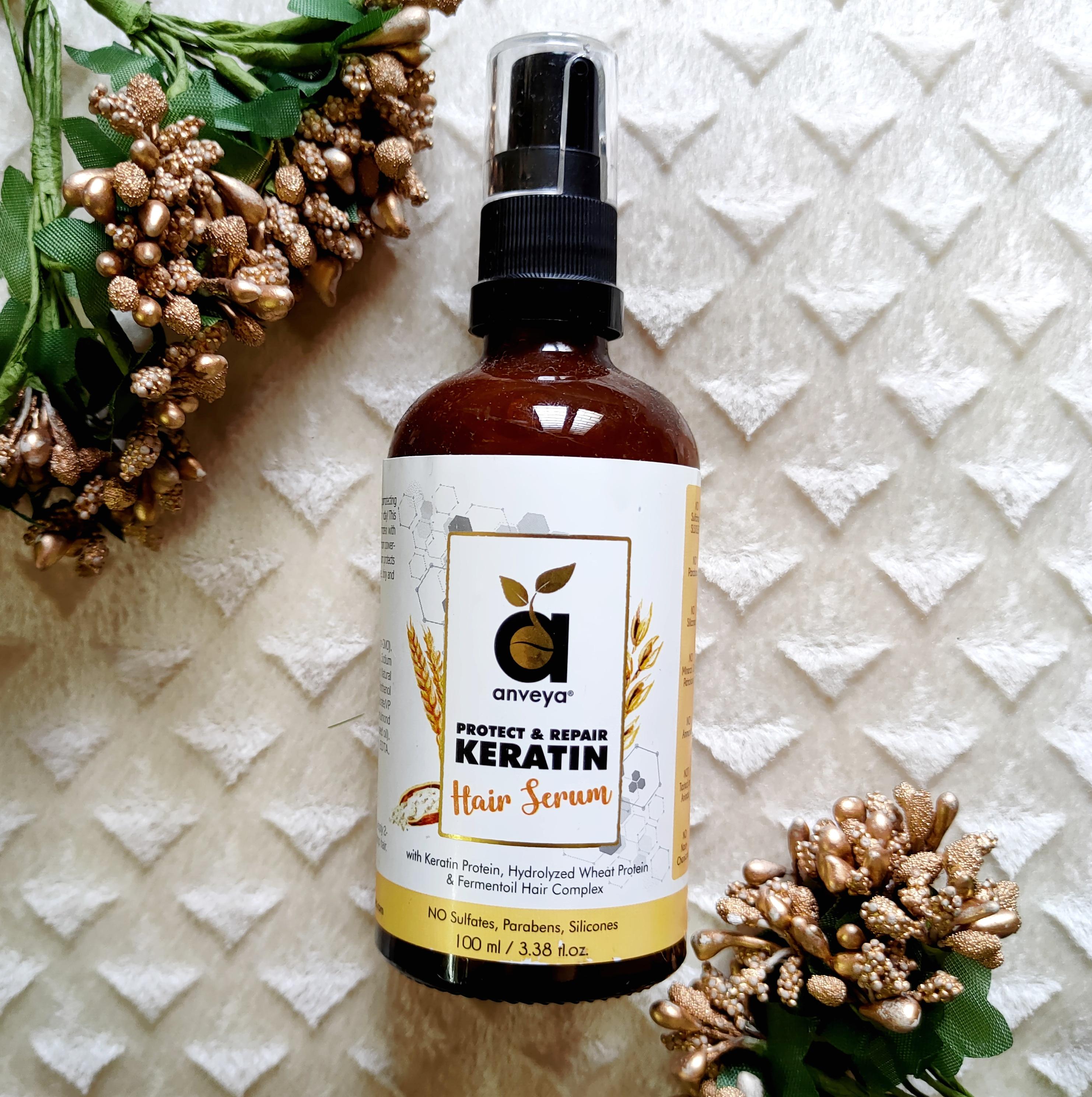 Anveya Protect & Repair Keratin Hair Serum Review