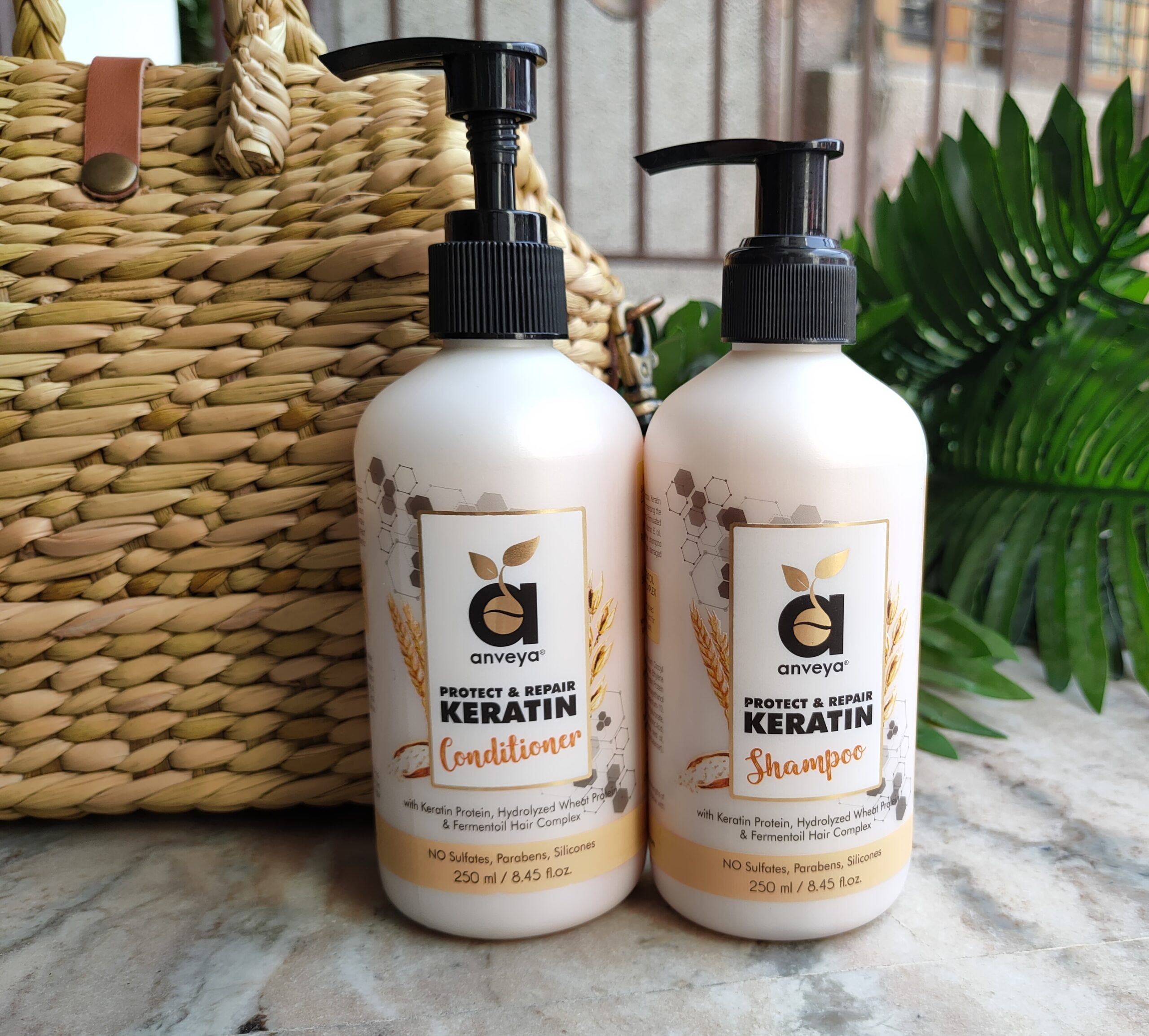 Anveya Protect & Repair Keratin Shampoo and Conditioner Review