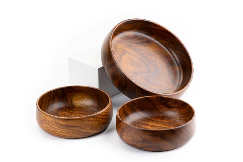 BARO Wooden Bowl Set of 3