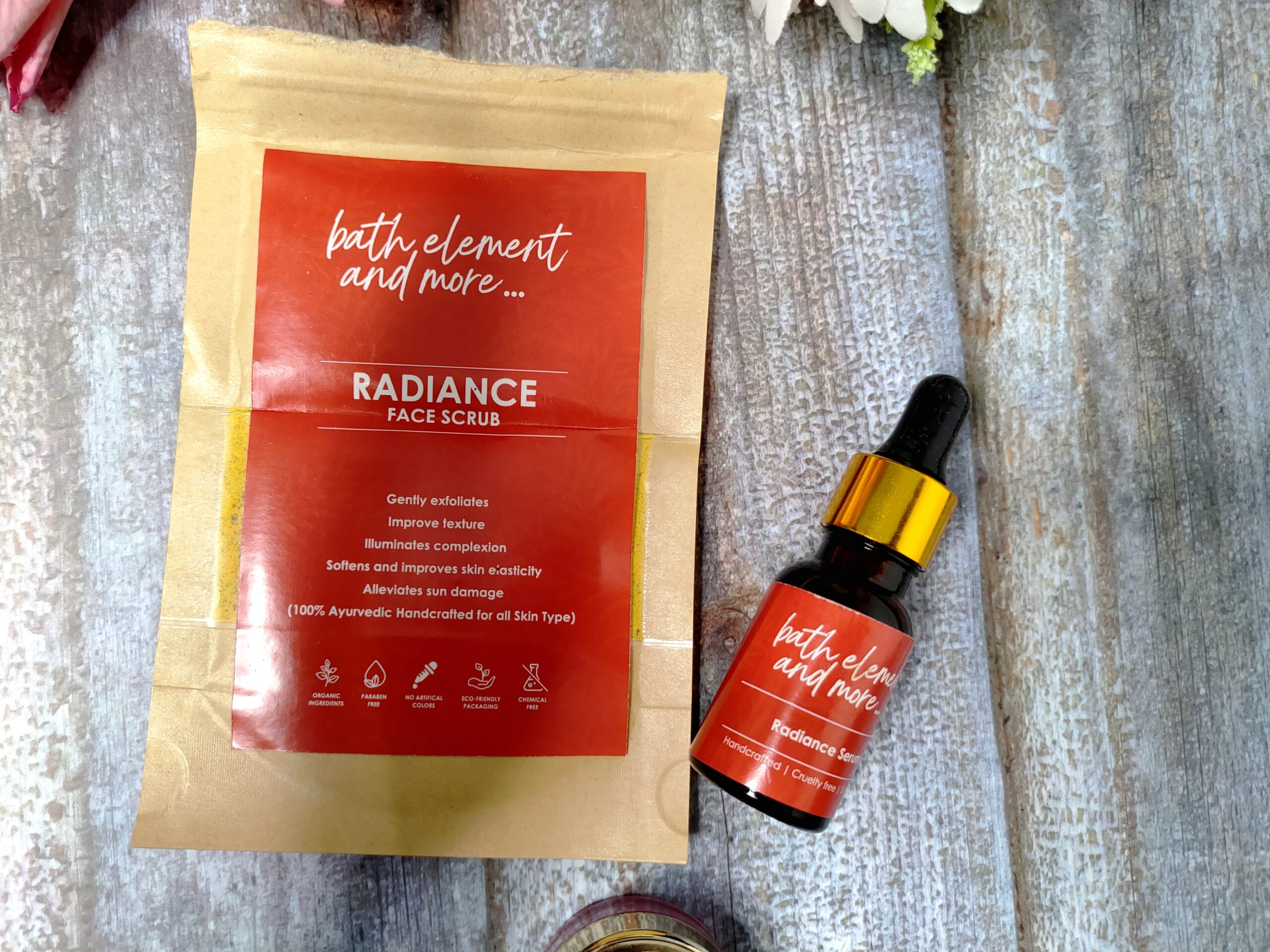 Unlock the Secret to Radiant Glow with Bath Element and More Radiance Face Scrub and Serum
