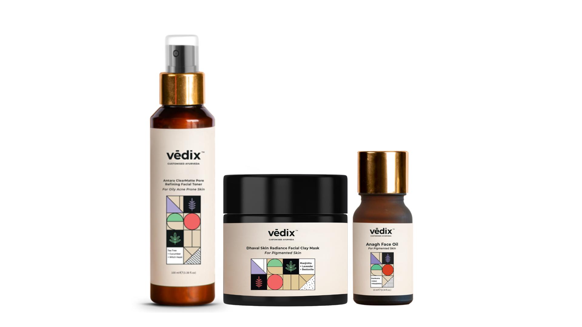 Vedix face oils, toners, face masks