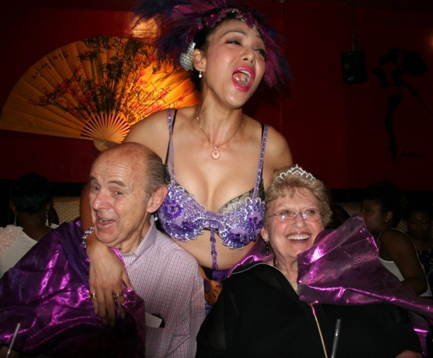 Dad and Mom and their tranny BFF on my mother's last birthday
