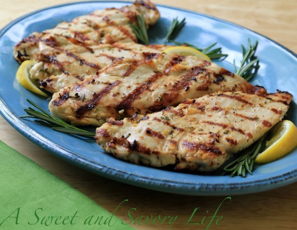 Marge Perry's moist, tender grilled chicken breasts