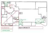Ground floor area for lease