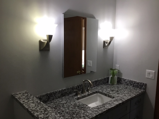Mirror and Light Fixtures