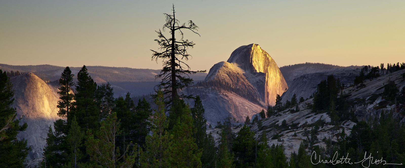 Half Dome Sunset at Olmsted Point
