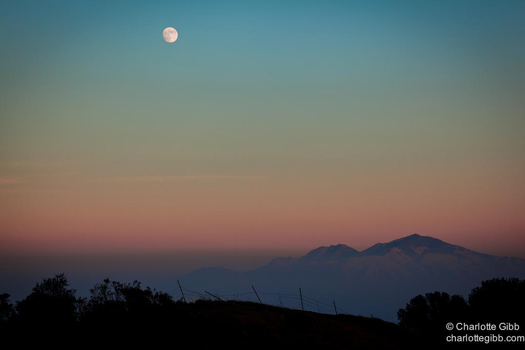 Moonrise Over Mt. Diablo