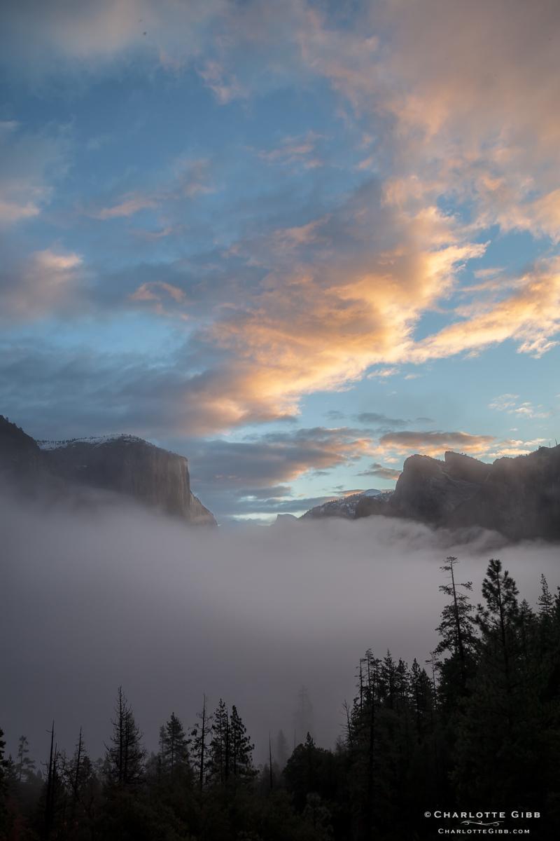 Sunrise Yosemite Tunnel View, February 2014