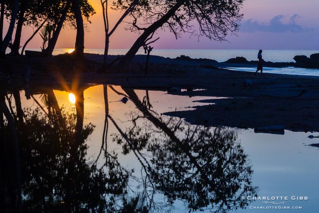 Fisherman sunrise Costa Rica