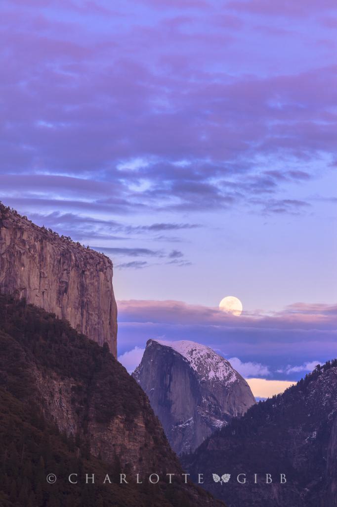 Moonrise Over Half Dome, February 2014